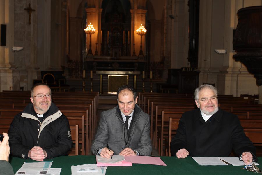 Signature de la convention sur l'entretien des orgues
