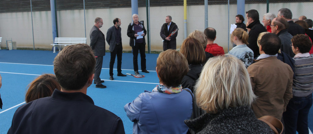 Inauguration court de tennis